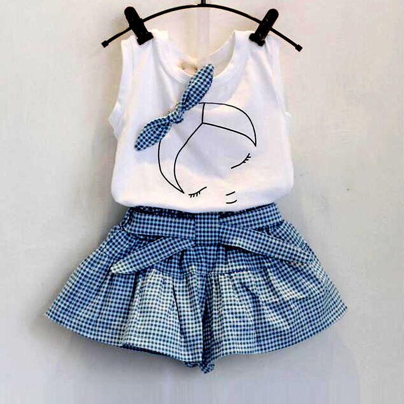 Set áo và quần giả váy cho bé