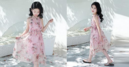 Đầm maxi trẻ em
