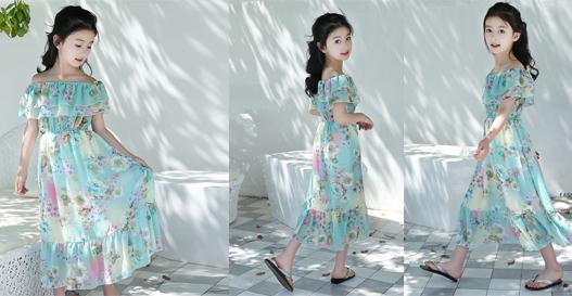Đầm maxi thời trang cho bé